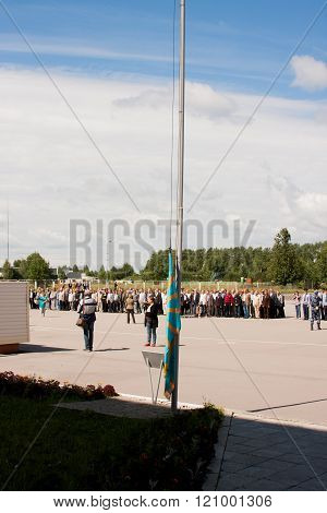 Perm, Russia, July 04.2015:raising Of A Flag, Grand Welcome Of Veterans