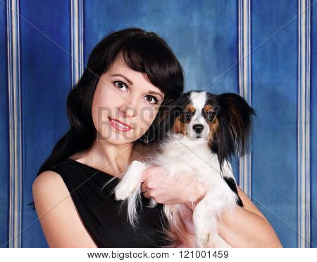portrait with a dog