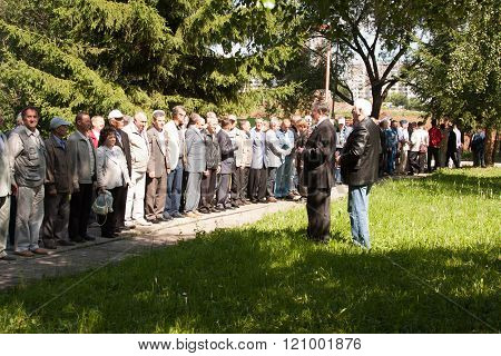 Perm, Russia, July 04.2015:people Cost In A Number At A Meeting Of Veterans