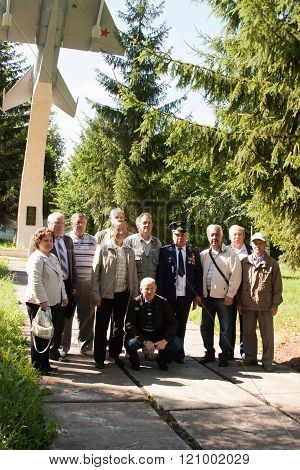 Perm, Russia, July 04.2015:people Take Pictures At A Meeting Of Veterans