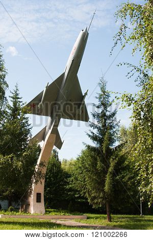 Perm, Russia, July 04.2015:aircraft In The Park Aviation Institute