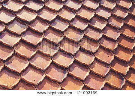 VIntage Brown roof texture background for background