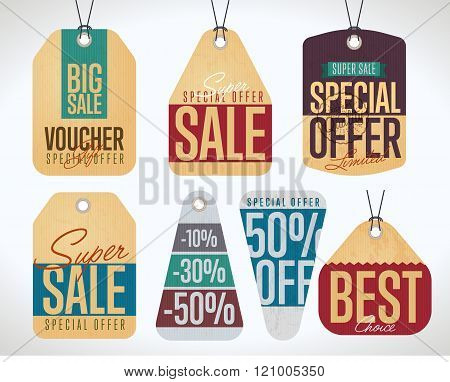Sale tag vector isolated. Sale sticker with special advertisement offer. Retail tag. 50% Off tag. Tag collection. Super sale tag. Half price tag. Big sale tag. Special offer tag. Sale sticker.  Tag.