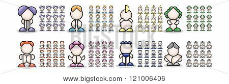 3d colorful small people. 3d image. Isolated white background.
