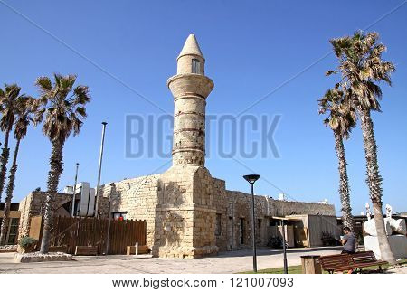 Bosnian Mosque In The National Archaeological Park Caesarea, Israel