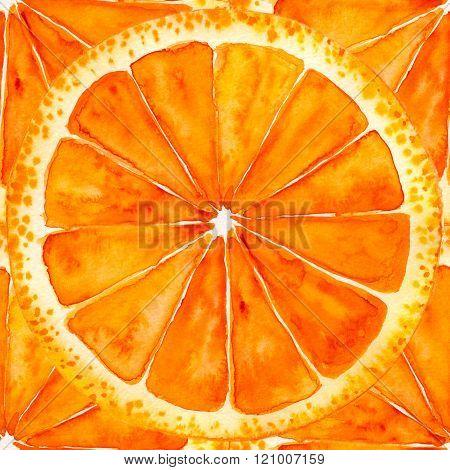 sliced orange or grapefruit