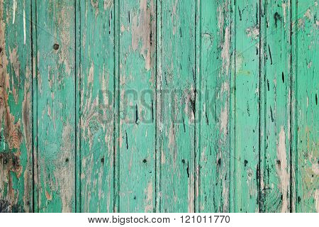 old grunge blue wooden background or texture