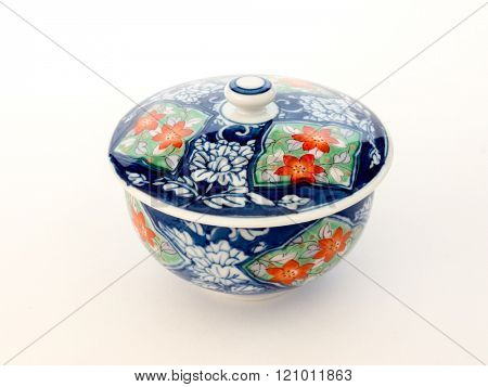 GOMEL, BELARUS - FEBRUARY 18, 2016: The Japanese porcelain (Imari, Arita). Porcelain (also known as china or fine china) is a ceramic material made by heating materials.