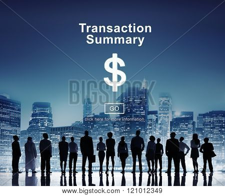 Transaction Summary Corporate Accounting Concept