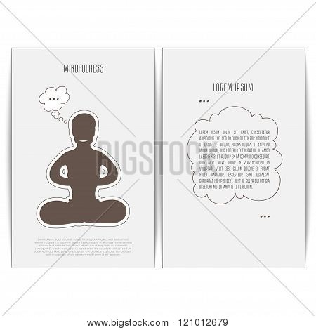 Man have purity of consciousness in Lotus pose.