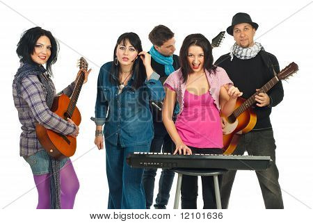 Band Of Five Friends Singing