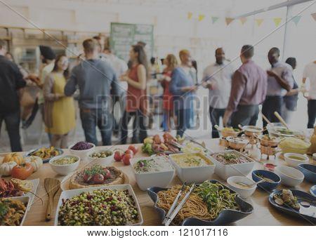 Eating Enjoy Food Festive Cafe Celebrate Meal Concept