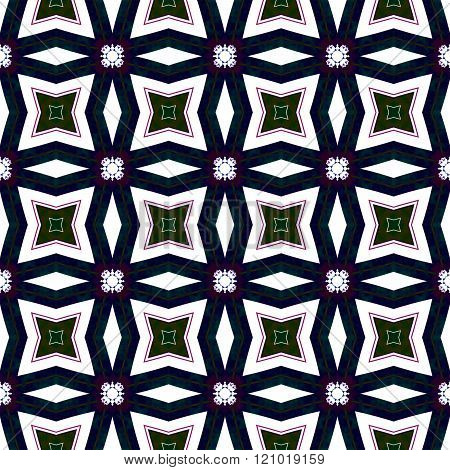 Abstract regular symmetrical regular mirroring contrast pattern - digitally rendered graphic