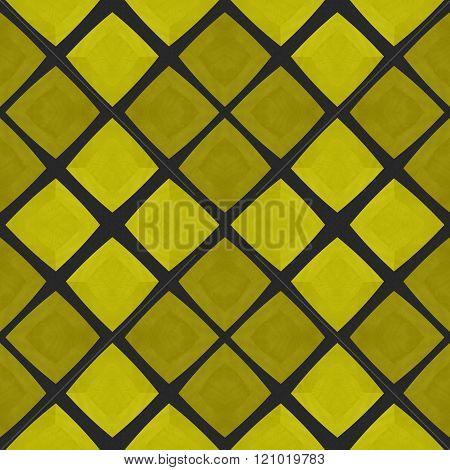 Abstract gold yellow mosaic tile pattern in moorish style