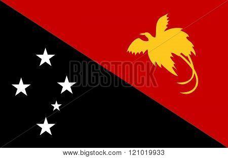 Papua New Guinea Flag.