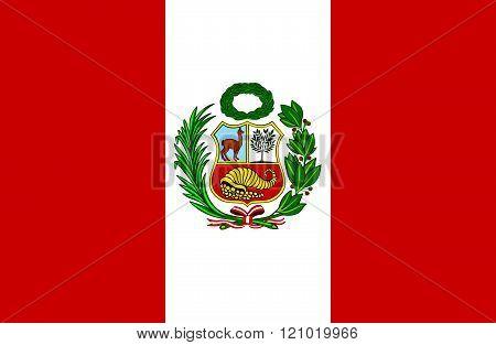 Peruvian Flag.