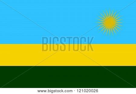 Rwanda Flag.