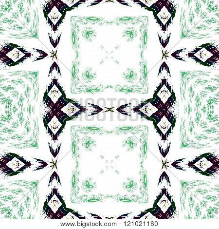 Abstract seamless ornamental oriental traditional pattern