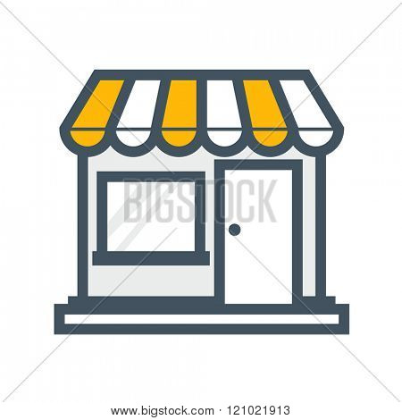 Store shop - outline style icon