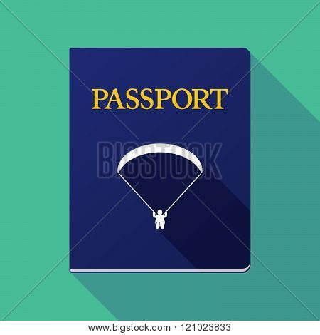 Long Shadow Passport With A Paraglider