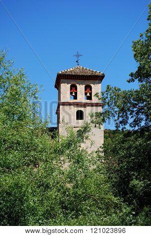 San Pedro church bell tower, Granada.