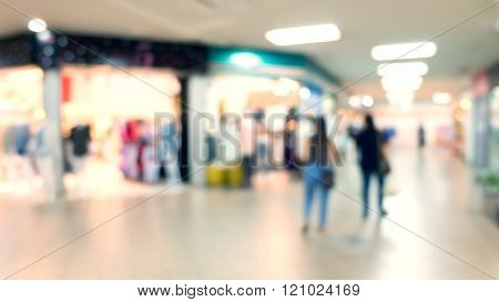 Blur Background, Department Store With Storefronts Fashion Clothes
