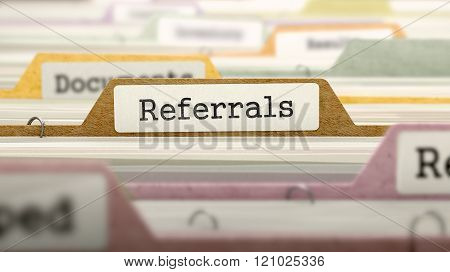 Referrals Concept on Folder Register.