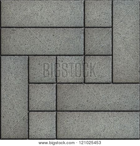 Texture of Gray Paving Slabs. Geometric Pattern.