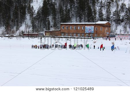 Children's competitions on cross-country skiing