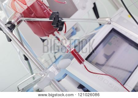 Blood Transfusion To A Patient In Critical Condition