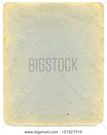 Old sheet of thick paper with yellowed edges