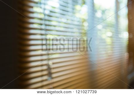 Window Blinds Open In Home, Image Blur Background