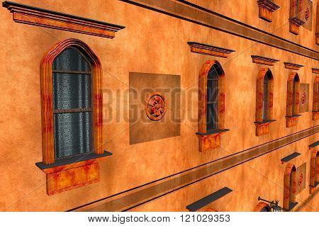 European Style Building Facade