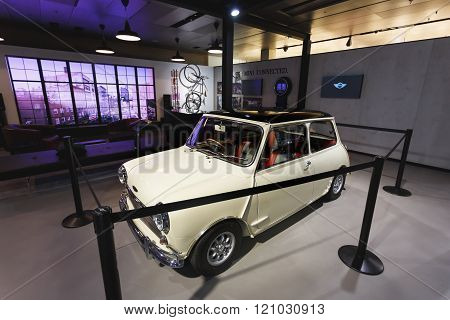 Old Mini Cooper In The Exibition