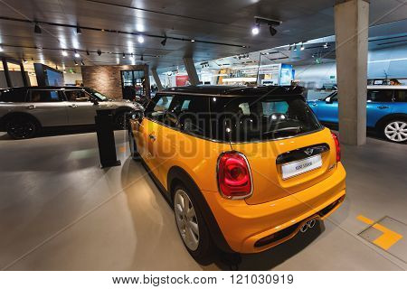 Mini Cooper In The Exibition