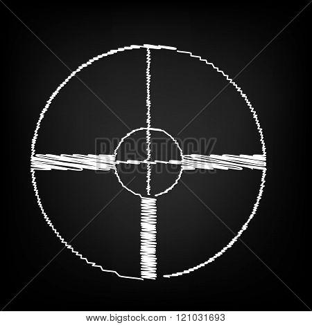 Crosshair Target sign.