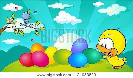 Blossom Twig With Singing Bird
