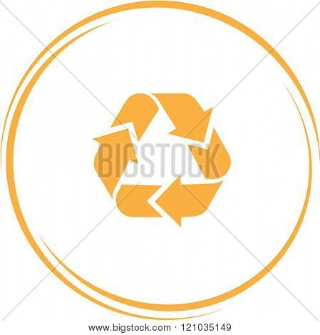 recycle symbol. Internet button. Raster icon.