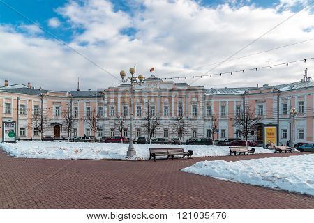 Tver, Russia - February 27. 2016.  City Duma building on  a Sovetskaya Street