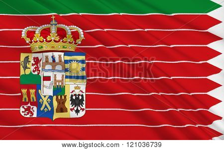 Flag Of Zamora Is A Province Of Western Spain