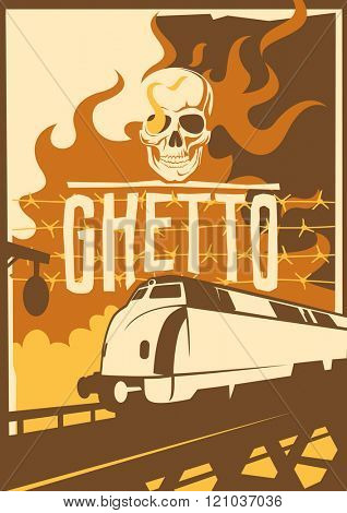 Retro ghetto poster. Vector illustration.