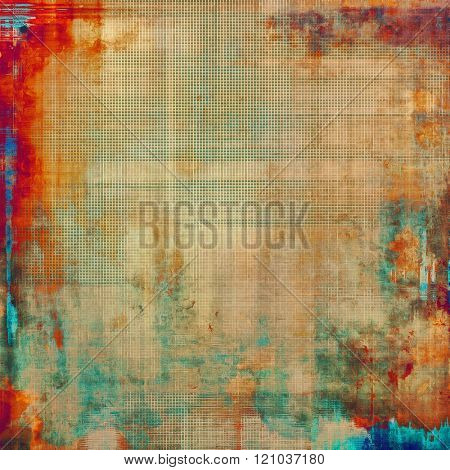 Vintage old texture with space for text or image, distressed grunge background. With different color patterns: yellow (beige); brown; blue; red (orange)