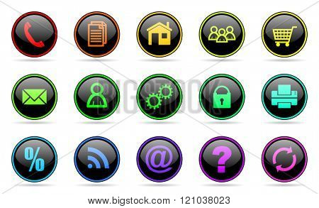 colorful business icon set