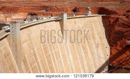 Glen Canyon Dam in Page, Arizona