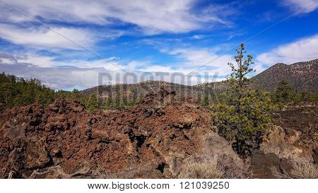 Ancient Lava Flow at Sunset Crater National Monument