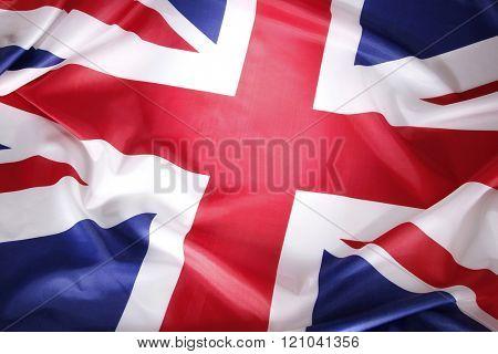 Closeup of Union Jack flag