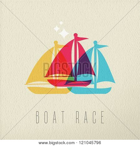 Boat Race Colorful Summer Concept Background