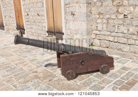 Cannon Of Citadel In Old Town Of Budva, Montenegro
