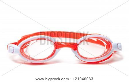 Goggles for swimming on white