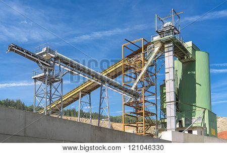 Industrial plant of a quarry